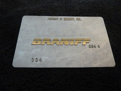 Braniff Air 004 - Travel Agent Airline Ticket Validation Plate