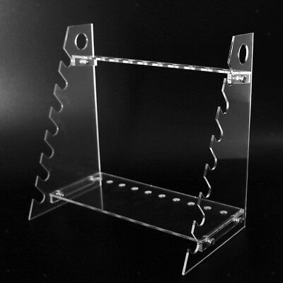 Transparent Plastic Pipet Stands Rack for 17 Pipettes, Horizontal Placement