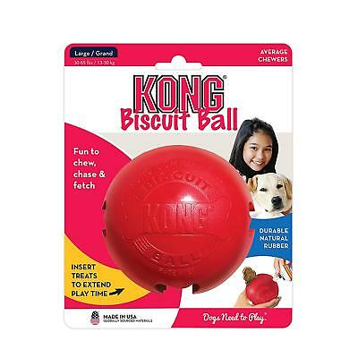 Kong Biscuit Ball Large Red Palla Di Gomma Rossa Per Premi Cane
