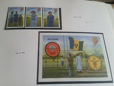 St Vincent 1989 Sg 1500-1505 & Ms1506 A & B 75Th Anniv Of Girl Guildes  Mnh