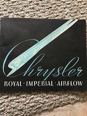 1937 Mint Condition Chrysler Brochure/booklet