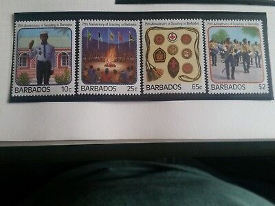 Barbados 1987 Sg 841-844 75Th Anniv Of Scouts Mnh