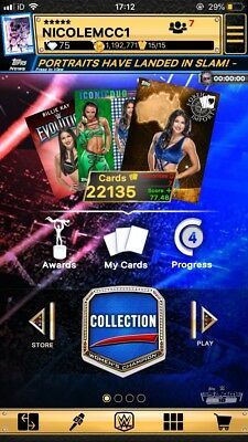Topps WWE Slam Digital Card - ANY SIX CARDS FOR A FIVER
