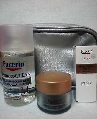 Eucerin traveling set Hyaluron Filler Elasticity day 5ml night 20ml dermo clean