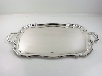 Superb very large 61cm & heavy 2910g SILVER TEA TRAY, Sheffield 1928 Tea service