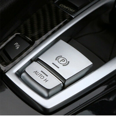 Car Styling PARKING BRAKE SWITCH P Button COVER ABS Chrome For BMW F10 F15 F25