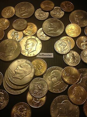 ☆US Dollar 5 Coins Estate Lot☆ Sacagawea Anthony Presidential Eisenhower + Proof