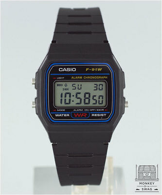 New Genuine Casio Digital Retro Watch F-91 / F-91W-1YER