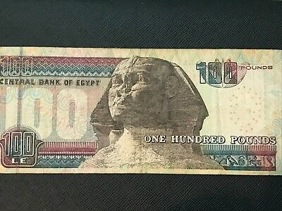 Egypt One Hundred Pounds Note Year - 2000