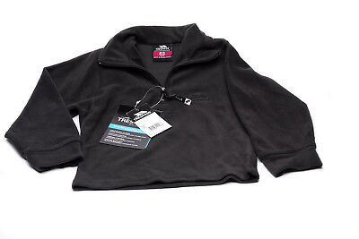 Trespass Boys/Girls   1/4 Zip Micro Fleece Black