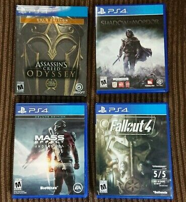 Assassin's Creed Odyssey Gold Edition, +9 other Games. PS4 Game Lot/Bundle