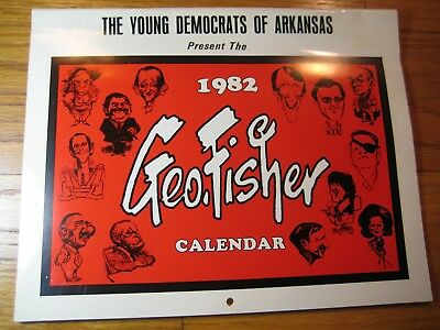 George Fisher 1982 Political Cartoon Calendar - Arkansas Democrats Times/Gazette
