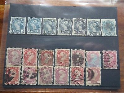 Canada Queen Victoria scott unitrade 44 and 45 collection lots