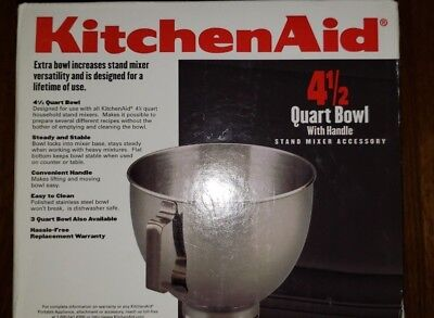 KitchenAid Stainless Steel Bowl for KSM and K45 4-1/2-Quart KitchenAid Mixers