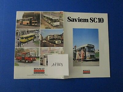 N°11769 / RENAULT SAVIEM SC10  catalogue couleur octobre 1978