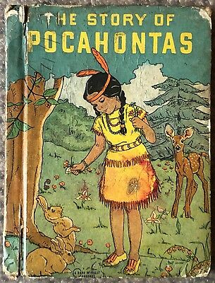 1942 The Story of Pocahontas by Marion Gridley Illustrated Rand McNally & Co.