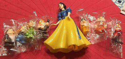 """Snow White and the Seven Dwarfs  Figurines  8PCS Set Collection """"NEW"""""""