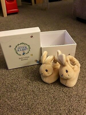 Rainbow Designs Peter Rabbit First Booties - Newborn Baby Boy Or Girl Slippers
