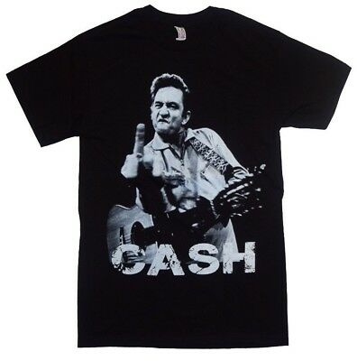 Johnny Cash Middle Finger New Men T-Shirt Unisex Shirt Classic Rock
