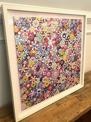 Takashi Murakami-Bouquet of Love-Signed/Numbered,Professionally Framed,J.Balvin