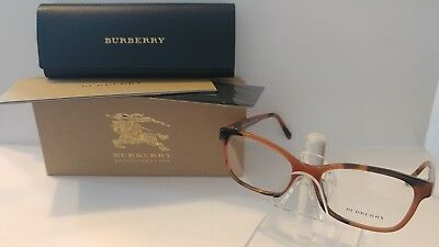 e84b6a1c7ec8 Authentic BURBERRY B2201 SPOTTED AMBER 3518 Rx EYEGLASSES FRAME 54-17-140 w  Case