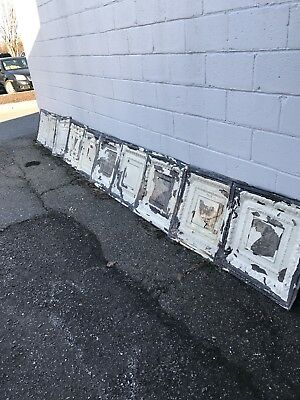 10 Antique Ceiling Tin VTG Reclaimed Salvage Art Craft Early 1900s NR