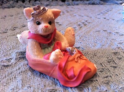 """Nos Avon 2001 Enesco Calico Kittens """"we're Partners In The Dance Of Life"""""""