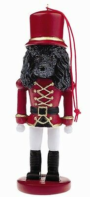 POODLE BLACK CHRISTMAS ORNAMENT NUTCRACKER SOLDIER HOLIDAY 5 in