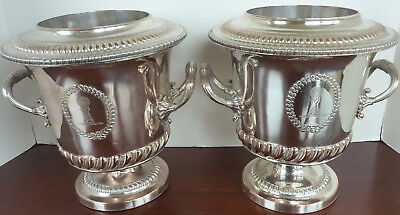 MATCHED PAIR ANTIQUE LATE-19th / EARLY-20th CENTURY WINE COOLERS-POSSIBLY FRENCH