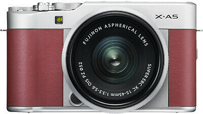 Fujifilm X-A5 Mirrorless Camera (Pink) with XC15-45mm Lens (Silver)