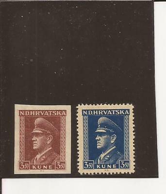 CROATIA(YUGOSLAVIA)-(1893-4) Unlisted trial color ( signed) & another stamp