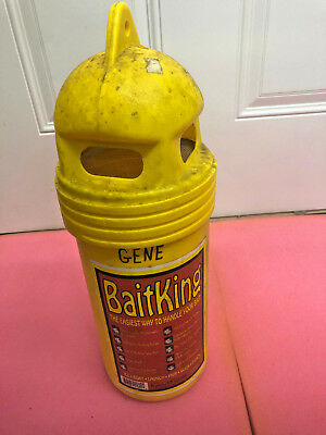 BS9 VINTAGE Kass Winns BaitKing bait bucket minnow ice fishing or open water use