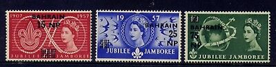 Bahrain 115-7('57) Boy Scout Jubilee Jamboree--Mint F-Vf Never Hinged