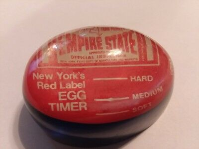 Vintage NY Empire State Egg Timer,  Lucite Acrylic Dept. of Agriculture