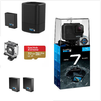 GoPro Boundle,GoPro 7+32gCard+3 Way+Super suit+Dual Battery Charger with Battery
