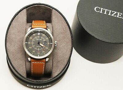 Citizen Men's Eco-Drive Stainless Steel AW1361-10H Watch w/ Brown Leather Strap