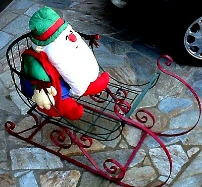 Christmas Sleigh Large All Metal Outdoor or Indoor Display