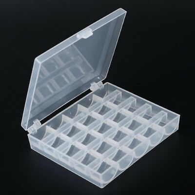 Hot! 25PCS Sewing Machine Bobbins Spool Plastic Case For Brother Janome Singer#C