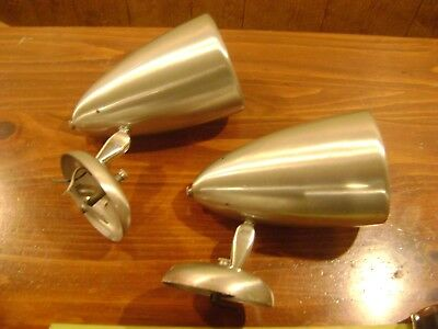 Vintage industrial cone shape wall sconce set of 2 swivel light fixture