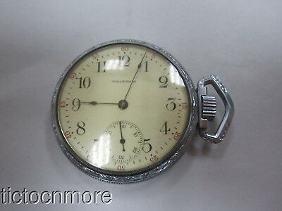 ANTIQUE WALTHAM No 620 16s 15j RAILROAD DIAL RED SECONDS POCKET WATCH 1908