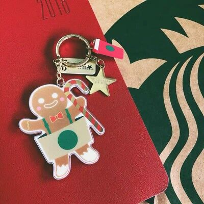 Starbucks 2018 China Gingerbread Man New Core Rewards Kits Card With Keychain