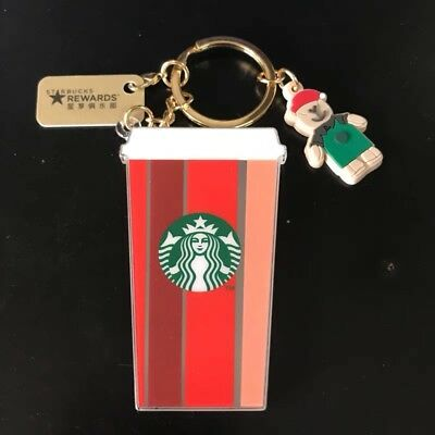 Starbucks 2018 China Christmas Red Cup New Core Rewards Kits Card With Keychain