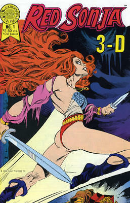 Red Sonja 3-D # 1 Robert E Howard Aaron Lopresti Weiss Blackthorne 1988 3D VF