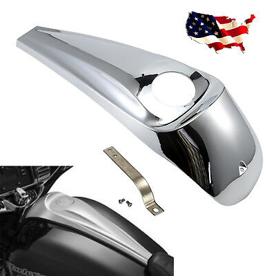 Chrome ABS Smooth Dash Fuel Console Cover Fit For Harley Street Glides 2008-2017