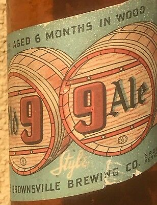 """IRTP Rare """"Old 99 Ale"""" Brownsville Brewing Co., PA Beer Bottle Pennsylvania"""
