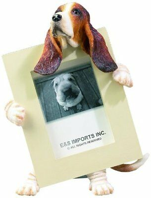 "Basset Hound Dog Photo Picture Frame Gift Resin 2-1/2""x3-1/2"""