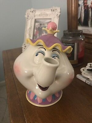 "Disney's Beauty And The Beast ""mrs. Potts""  Be Our Guest Teapot Music Box"