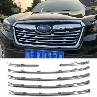 Fit for Subaru  Forester 2019 Front Grill Grille Hood Cover Trim Chrome ABS