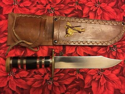 WW2 WWII Theater Hand Made Knife Hunting