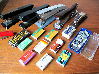 Large Lot Staplers Staples Pen Holder Pencil Sharpener Office Supplies